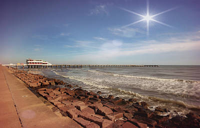 Photograph - Galveston Fishing Pier by Judy Vincent