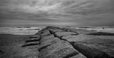 Photograph - Galveston Jetty by James Woody