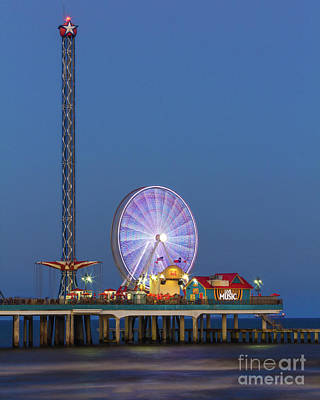 Galveston Pier  Art Print