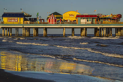 Photograph - Galveston Pleasure Pier  by Kathy Adams Clark