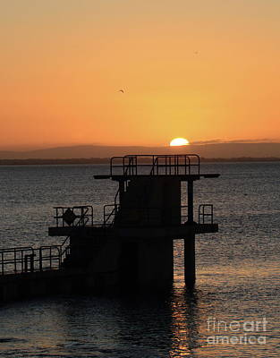 Photograph - Galway Bay Sunrise by Peter Skelton