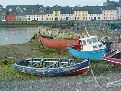 Photograph - Galway Boats by John Bushnell