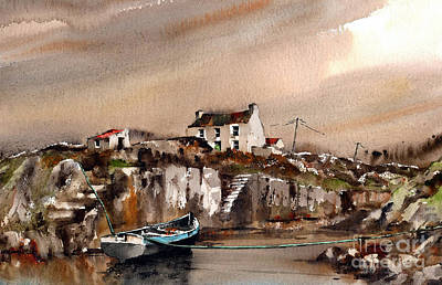 Painting - Galway 766.. Carraroe, An Cuan Caol by Val Byrne