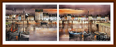 Painting - Galway  Cladagh Harbour by Val Byrne