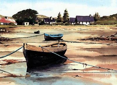 Painting - Galway.. Erlak Tide Out by Val Byrne