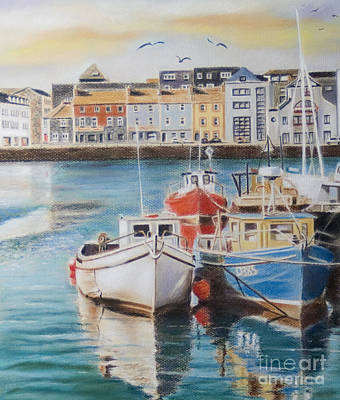 Trawler Painting - Galway Harbour by Vanda Luddy