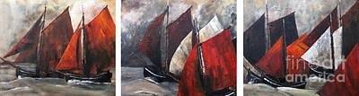 Galway Hookers Regatta Art Print