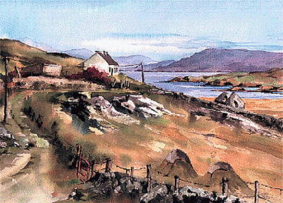 Painting - Galway Inisbofin Island by Val Byrne