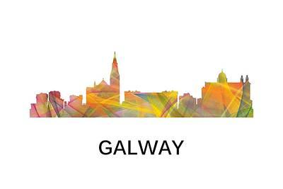 Digital Art - Galway Ireland Skyline by Marlene Watson