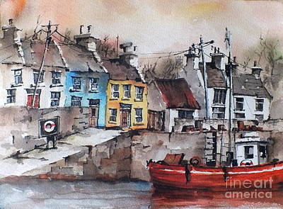 Painting - Galway.. Roundstone by Val Byrne