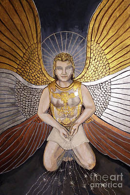 Money God Painting - Gamaliel, Angel Of Prosperity by Dia T