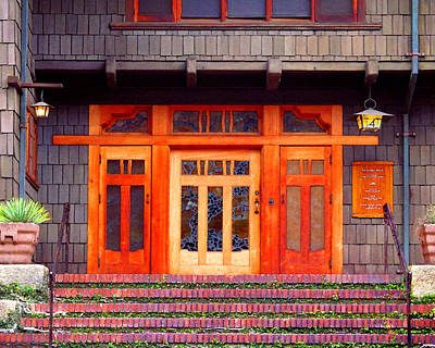Arts And Crafts Movement Photograph - Gamble House Entry by Timothy Bulone