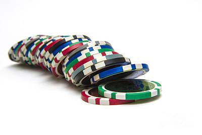 Chip Photograph - Gambling Chip. by Bernard Jaubert