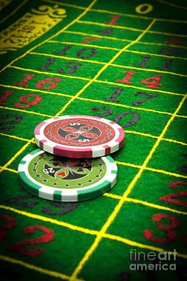 Green Color Photograph - Gambling Chips by Bernard Jaubert
