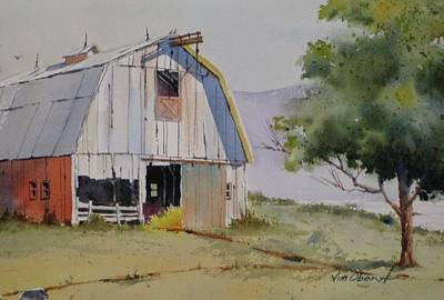 Oberst Painting - Gambrel Roof Barn by Jim Oberst