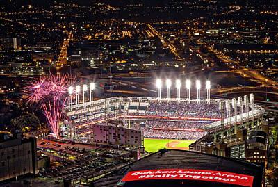 By Jackie Photograph - Game 7 World Series 2016 by Jackie Sajewski