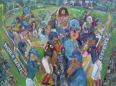 Cleveland Indians Painting - Game 7 World Series 2016 by John Kilduff