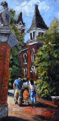 Painting - Game Day At Auburn by Carole Foret
