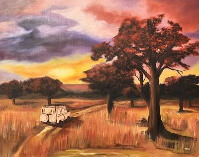Painting - Game Drive by Mary Rimmell