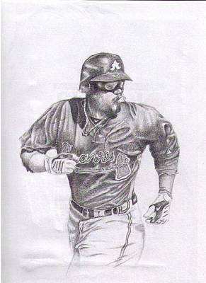 Baseball Uniform Drawing - Game In Motion by Garrett Wright