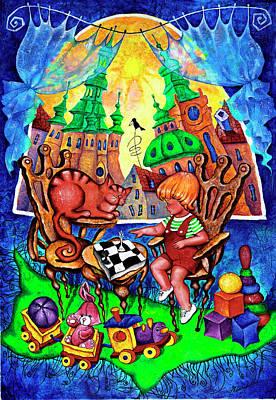 Astronomical Clock Painting - Game by Inga Konstantinidou