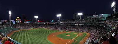 Photograph - Game Night Boston Fenway Park by Juergen Roth