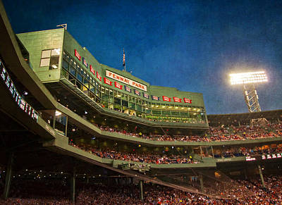 Baseball Photograph - Game Night Fenway Park - Boston by Joann Vitali