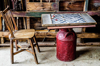 Photograph - Game Of Checkers by M G Whittingham