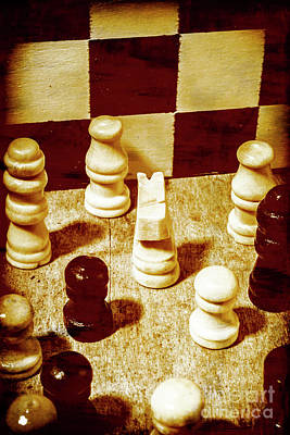 Chess Knight Photograph - Game Of Chess And Tactics by Jorgo Photography - Wall Art Gallery