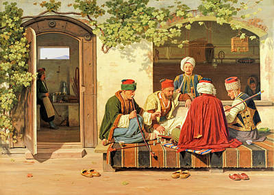 Photograph - Game Of Chess In 1845 by Munir Alawi