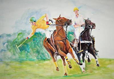 Painting - Game Of Speed And Skills by Khalid Saeed