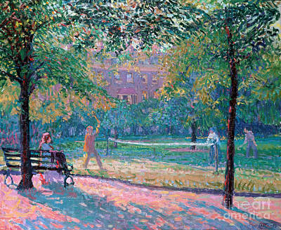 Park Benches Painting - Game Of Tennis by Spencer Frederick Gore