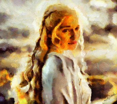 Actor Painting - Game Of Thrones 2 by George Rossidis