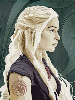 Science Fiction Royalty-Free and Rights-Managed Images - Game of Thrones Daenerys Targaryen by Garth Glazier