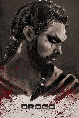 Hbo Digital Art - Game Of Thrones - Drogo by Parikshit Deshmukh