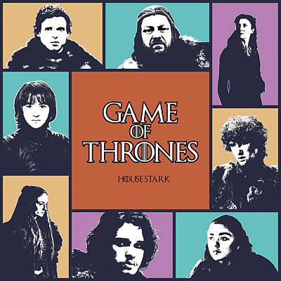 Game Of Thrones Digital Art - Game Of Thrones. House Stark. by Anna J Davis