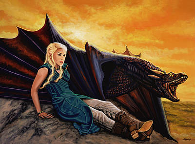 Dragon Painting - Game Of Thrones Painting by Paul Meijering