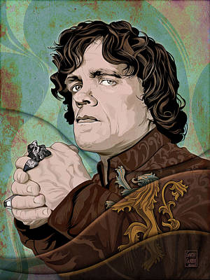 Science Fiction Royalty-Free and Rights-Managed Images - Game of Thrones Tyrion Lannister Portrait by Garth Glazier