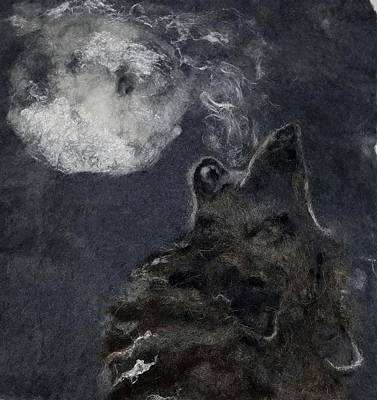 Tapestry - Textile - Game Of Wolves I  by Susanne Weber