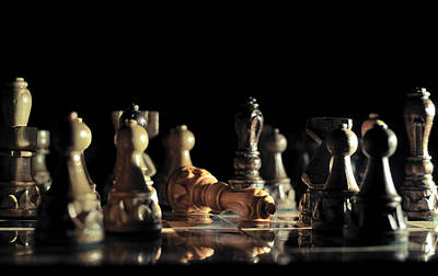 Chessboard Photograph - Game Over by Ivan Vukelic