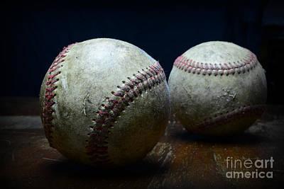Baseball Close-up Photograph - Game Used Baseballs by Paul Ward