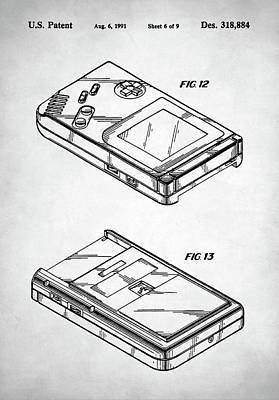 Digital Art - Gameboy Patent by Taylan Apukovska