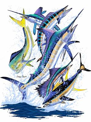 Gamefish Digital Art Print by Carey Chen