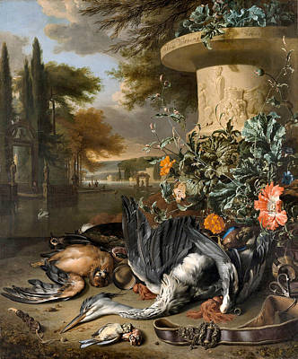 Photograph - Gamepiece With A Dead Heron by Jan Weenix