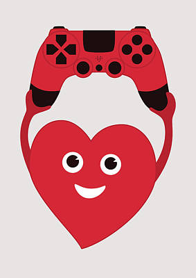 Gamer Heart Art Print