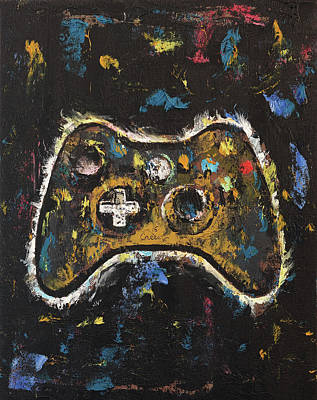 Video Game Painting - Gamer by Michael Creese