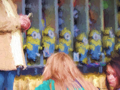 Painting - Games At The Fair by Cathy Jourdan