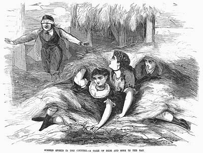 Games: Hide And Seek, 1887 Art Print by Granger