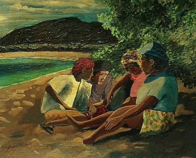 Games On The Beach Original by Andre Francis