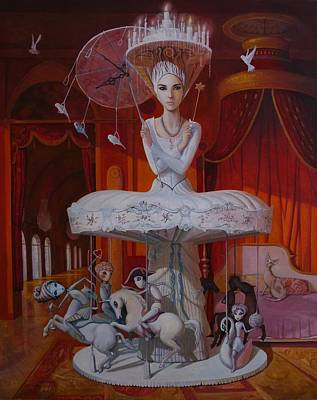 Marionette Painting - Games People Play by Adrian Borda